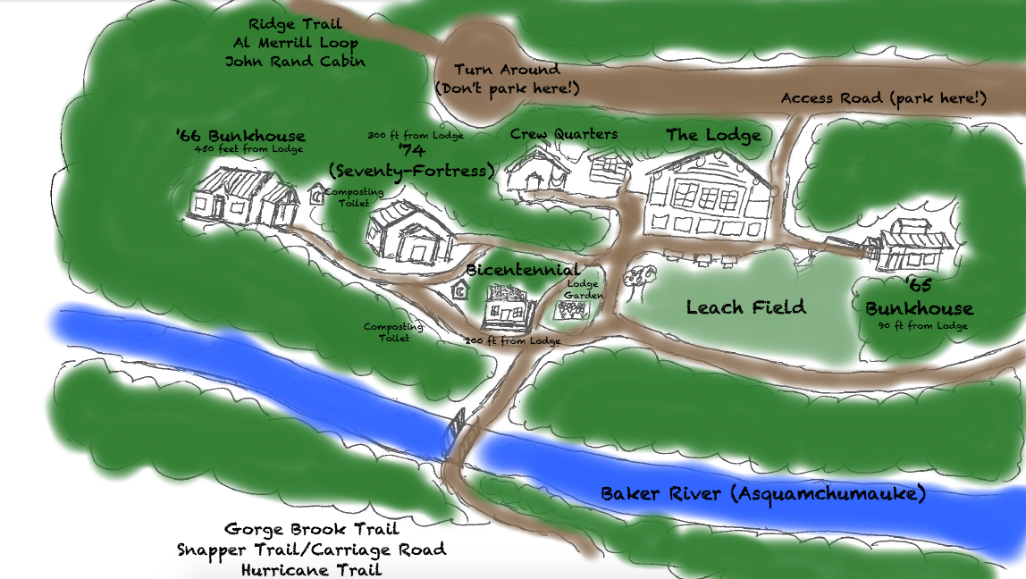 Map of lodge campus